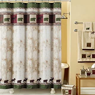 Best shower curtains with bears and moose Reviews