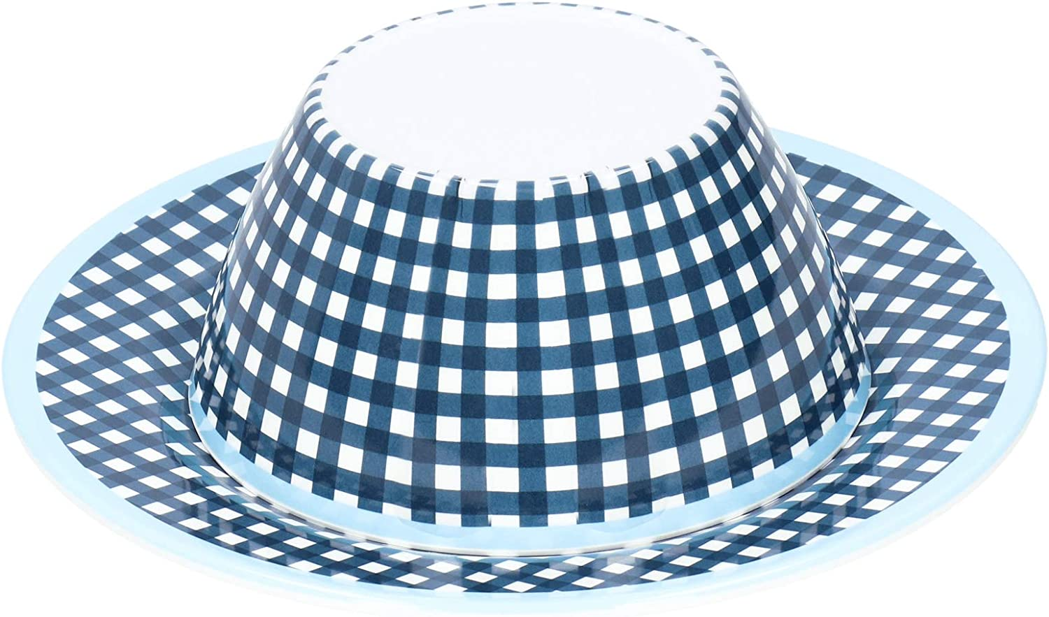 Max 89% OFF Dinnerware Set At the price Dinner Plates Dark Pattern Grid Blue Fruits for
