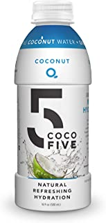 COCO5 All Natural Sports Drink with 5 Naturally Occurring Electrolytes, Coconut Flavor, 12 Pack Bottles