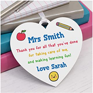 PERSONALISED Teacher Thank You Gifts - End of Term Gifts for Teacher, Teaching Assistant, TA - Teacher Appreciation Gifts - Male, Female Teacher Gifts - Thank You Wooden Plaque for Teachers