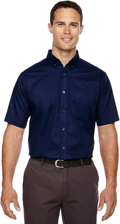Core 365 Men's Tall Optimum Short-Sleeve Twill Shirt 4XT CLASSIC NAVY