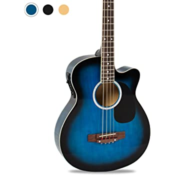 Best Choice Products 22-Fret Full Size Acoustic Electric Bass Guitar w/ 4-Band Equalizer, Adjustable Truss Rod