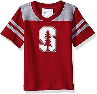Two Feet Ahead NCAA Stanford Cardinal Toddler Boys Football Shirt, Crimson, 2