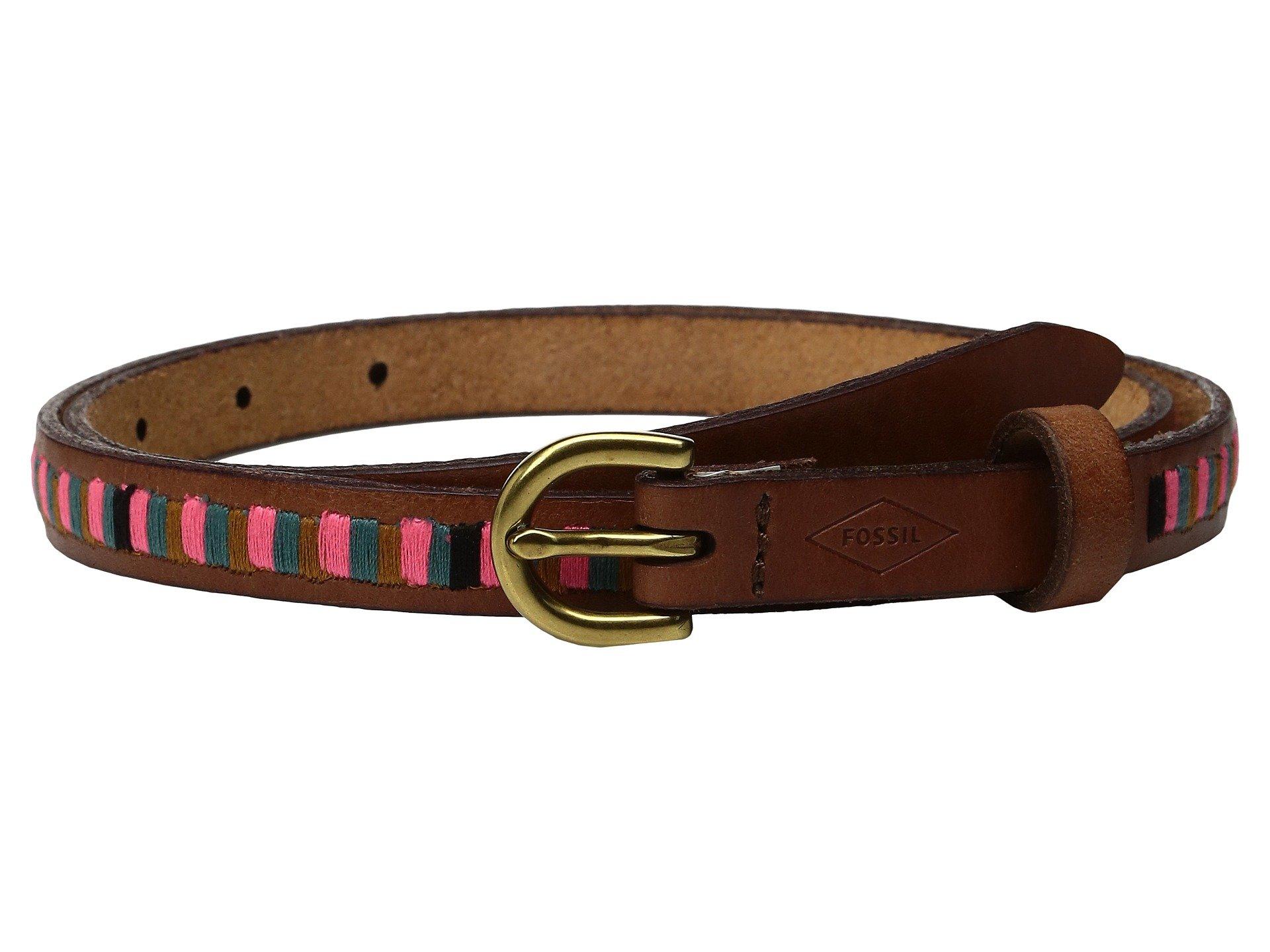 Correa o Cinturon para Mujer Fossil Embroidered Stripe Belt  + Fossil en VeoyCompro.net