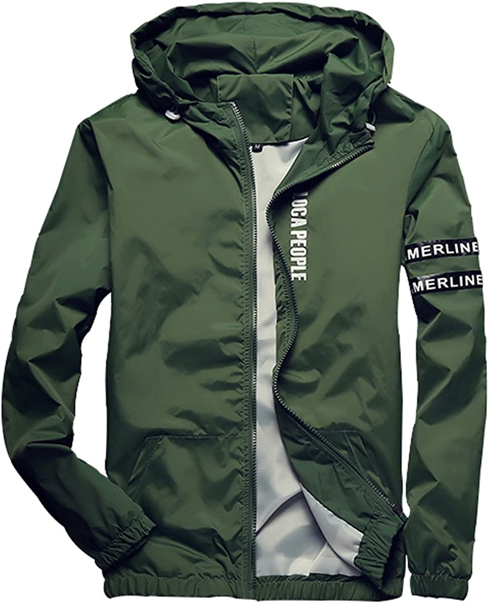 Homaok Men's Lightweight Breathable Jacket