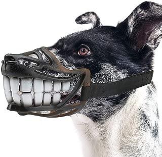 Bozales para perros Correa superior ajustable Bozal para perros Traje para perros pequeños, medianos y grandes, para evitar que se caigan, muerdan y mastiquen negro, (circunferencia de