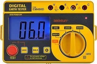 ALLOSUN Digital Earth Tester/Digital Earth Resistance Tester with Hard Case
