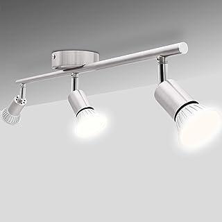 Lámpara de techo LED National Electronics Spot GU10 inclusive 3.5W 250lm LED Bombillas 3 Flama (10.5 Watts)