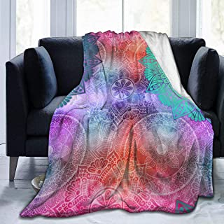 "Fleece Blanket 50"" x 60""-Tile Mandalas Decorative Mandala Home Flannel Fleece Soft Warm Plush Throw Blanket for Bed/Couch/Sofa/Office/Camping"
