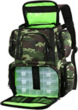 Lixada Fishing Tackle Backpack Multifunctional Fishing Tackle Utility Bag Large Waterproof Tackle Bag Storage with 4 Trays Tackle Box