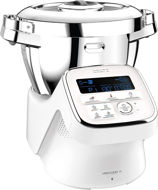 Krups iPrep&Cook XL HP60A1 Robot de Cocina con función de cocción, Blanco/Acero Inoxidable