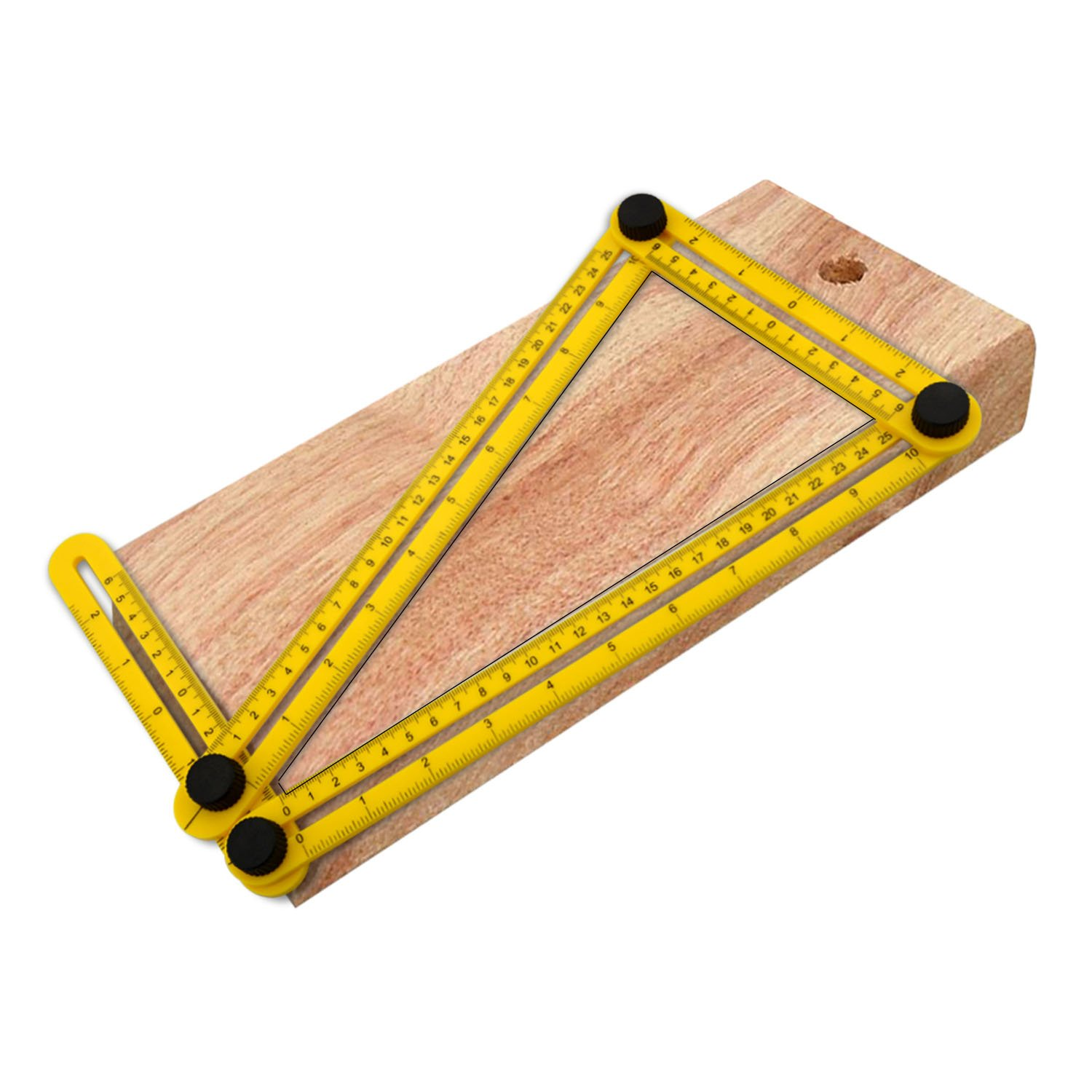 Aboat Angle-izer Template Tool, Multi-Angle Ruler Template Measures All Angles and Forms for Handymen, Builders, Craftsmen