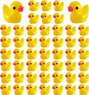 Skylety 100 Pieces Mini Resin Slime Charms Duck Miniature Duck Figures Micro Fairy Garden Landscape Aquarium Dollhouse Orn...