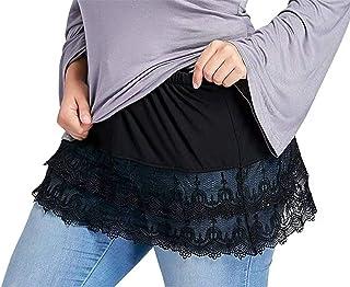Mini Skirt Shirt Extenders Lace Hollow Stitching,Mini Skirt Shirt Extenders Adjustable Layering,Lace Hollow Stitching Shor...