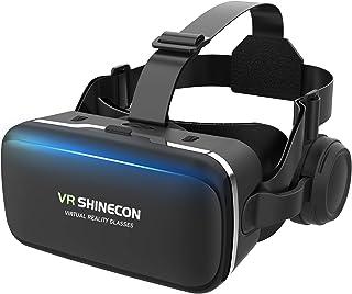 【Reira VRゴーグル】 VRヘッドセット VRヘッドマウントディスプレイ 高音質ヘッドホン付き ピント調節可 4.7~6.5インチスマホ対応 近視/遠視適用 本体操作可 受話でき 眼鏡対応 ios& android 対応 日本語説明書付