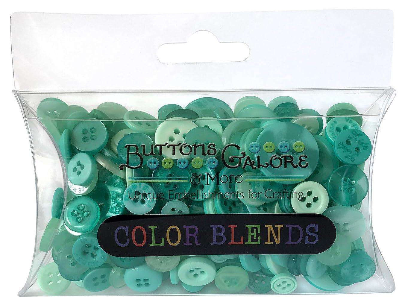 Buttons Galore CB112 Color Blend Buttons, 3-Ounce, Mint Color, 3 Shades of Mint Blue