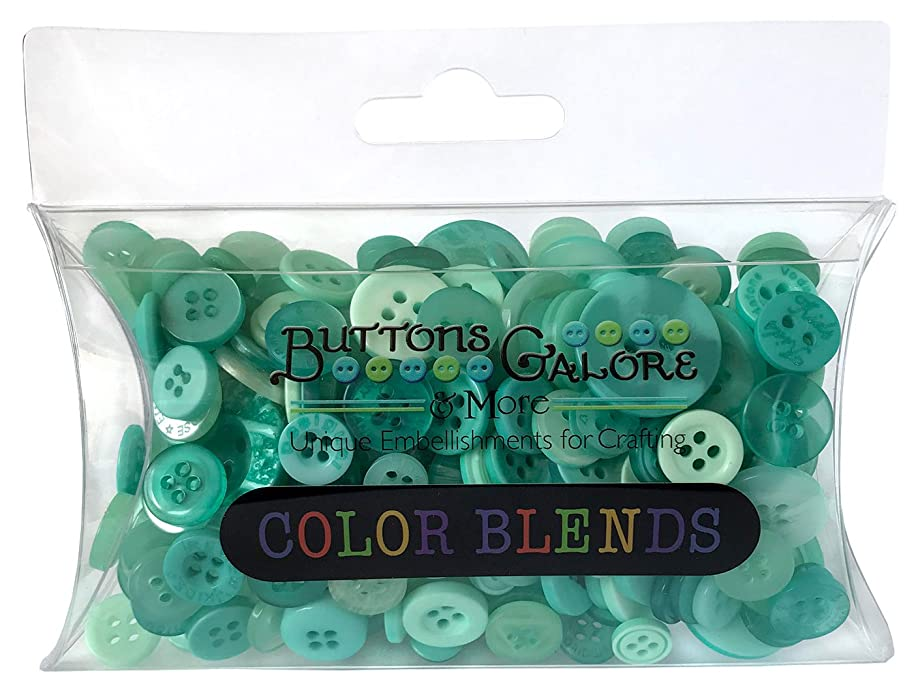 Buttons Galore CB112 Color Blend Buttons, 3-Ounce, Mint Color, 3 Shades of Mint Blue