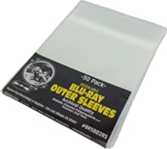 (50) Blu-Ray Resealable Outer Sleeves - Holds One 12MM Blu-Ray / HD DVD / PS3 Case - #BRSB02RS