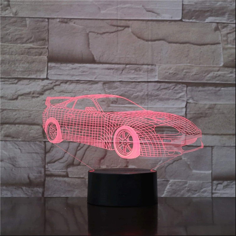ZBHW Super Sports Car Nightlight It is very popular Illusion 3D RGB Led 5 ☆ popular Multicolor