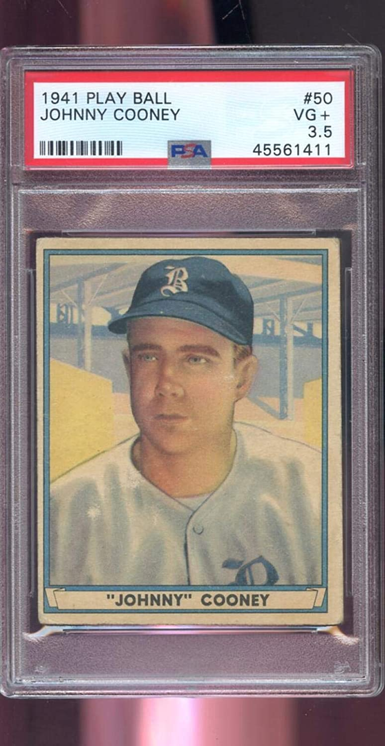 1941 Play Financial sales sale Ball PlayBall #50 Johnny Graded 3.5 PSA Brave Indianapolis Mall B Cooney