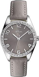 s.Oliver SO-2546-LQ Montre bracelet à quartz analogique pour femme Taille XS Cuir