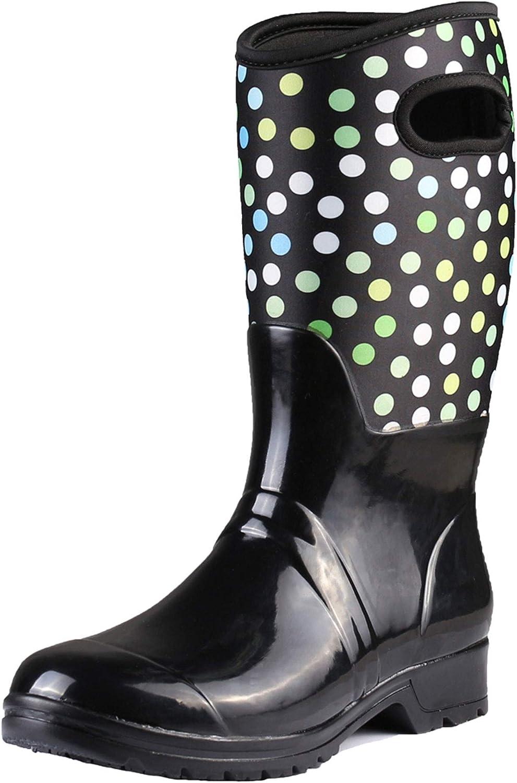 Own shoes Women Mid Claf Winter Snow Neoprene Rain Boots