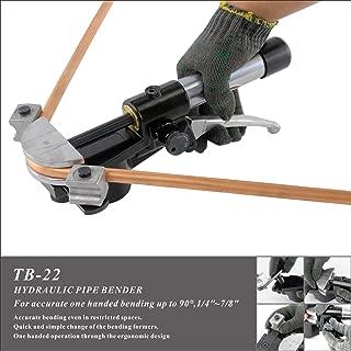IBOSAD 90 Degree Hydraulic Manual Copper Pipe Bender Tube Bending Machine in 1/4'', 5/16'', 3/8'', 1/2'', 5/8'', 3/4'', 7/8'' (Aluminum Former)