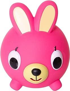 Jabber Ball Japan Oshaberi Doubutsu Talking Animal by Sankyo Toys - Borukuma Stress Relievers Squishy Ball - Neon Pink Bunny