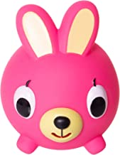 Jabber Ball Japan Oshaberi Doubutsu Talking Animal by Sankyo Toys - Borukuma Stress Relievers Squishy Ball - Neon Pink Bunny