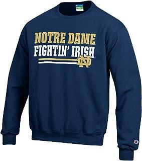 CHAMPION Notre Dame Fighting Irish Adult Block Crewneck Sweatshirt - Navy