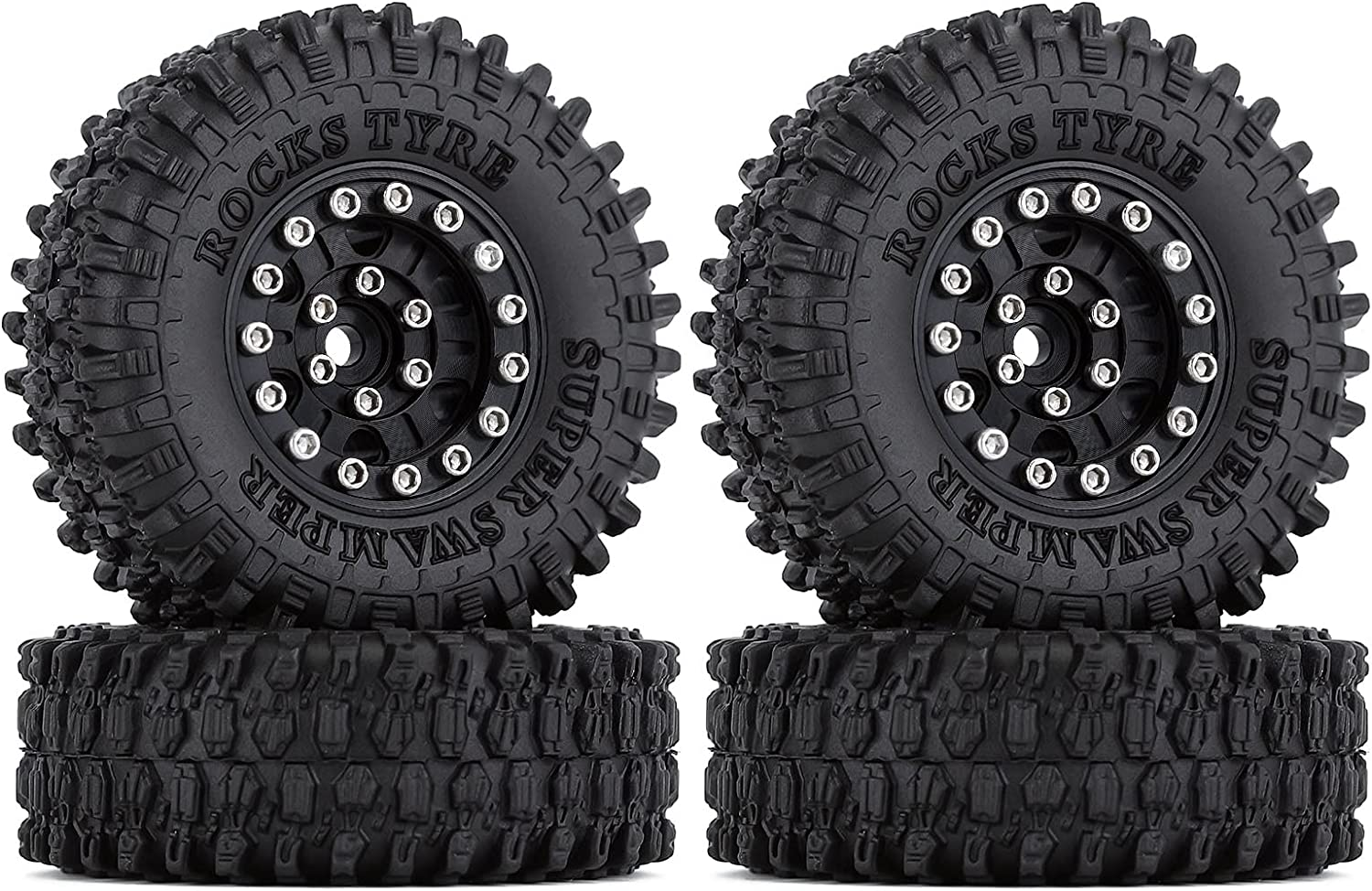 INJORA Courier shipping free shipping 1.0 Beadlock Wheels and Tires Ti 4Pcs Super special price Metal Crawler Micro