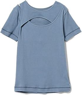 (レイビームス)Ray BEAMS/Tシャツ/アシンメトリー オープン レイヤード Tシャツ レディース