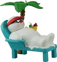 Hallmark Keepsake Ornament Kokomo Snowman Relaxing Under Palm Tree Musical 2016