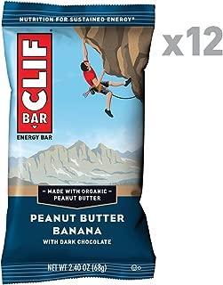 CLIF BAR - Energy Bars - Peanut Butter Banana Dark Chocolate - (2.4 Ounce Protein Bars, 12 Count)