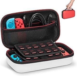 Keten Funda para Nintendo Switch, Última Versión de Estuche de Transporte para Consola Nintendo Switch, Juegos, Joy-con y ...