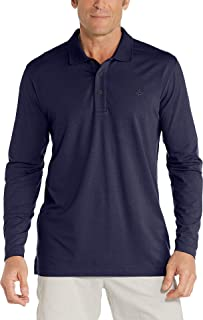 Coolibar UPF 50+ Men's Long Sleeve Weekend Polo Shirt -...