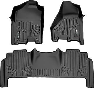 MAXLINER Floor Mats 2 Row Liner Set Black for 2010-2012 Ram 2500/3500 Mega Cab with Single Front Floor Hook
