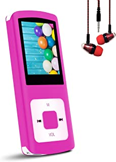 "Hotechs Support TF Cards Slim 1.8"" LCD Mp3 Mp4 Player Media/Music/Audio Player with Noise Isolation Wired Earbuds"