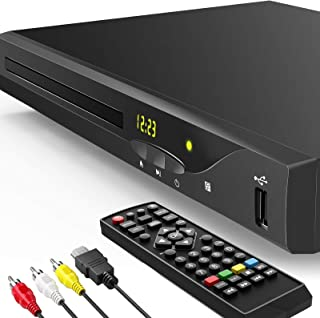 Blu ray DVD Player, 2021 Newest 1080P Home Theater Disc System for TV, Support Region Free DVD, Max 128G USB Flash Drive w...