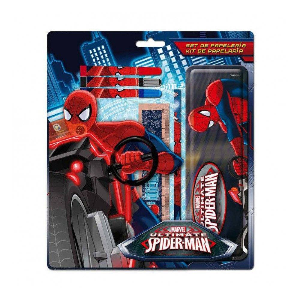 Astro Kit de papelería 6 piezas estuche metal Spiderman: Amazon.es ...