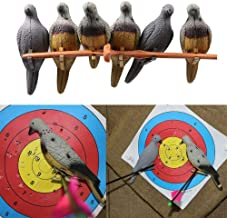 TOPARCHERY 3/612 pcs 3D Pigeon Archery Baits Target EVA Real Animal Bow Game Bait Decoy Dove for Slingshot Shooting Hunting Practice Decoration Indoor or Courtyard