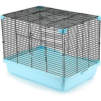 YOKITOMO 小動物ケージ お掃除しやすい 通気 持ち運びやすい うさぎ ハムスター ゴールデンハムスター 鳥など適用 (ブルー色)