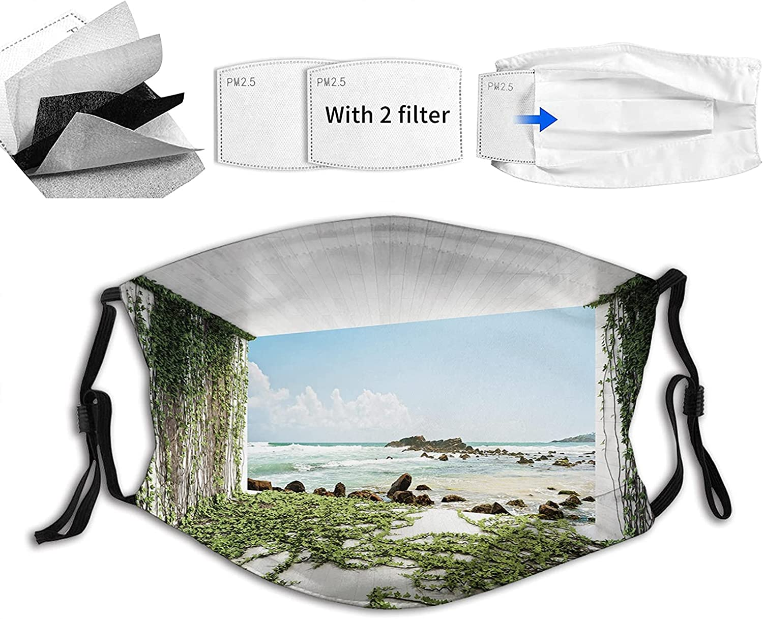 Comfortable Printed Max 82% OFF mask Wooden Max 40% OFF Palques Ocean Tunnel with S Seem