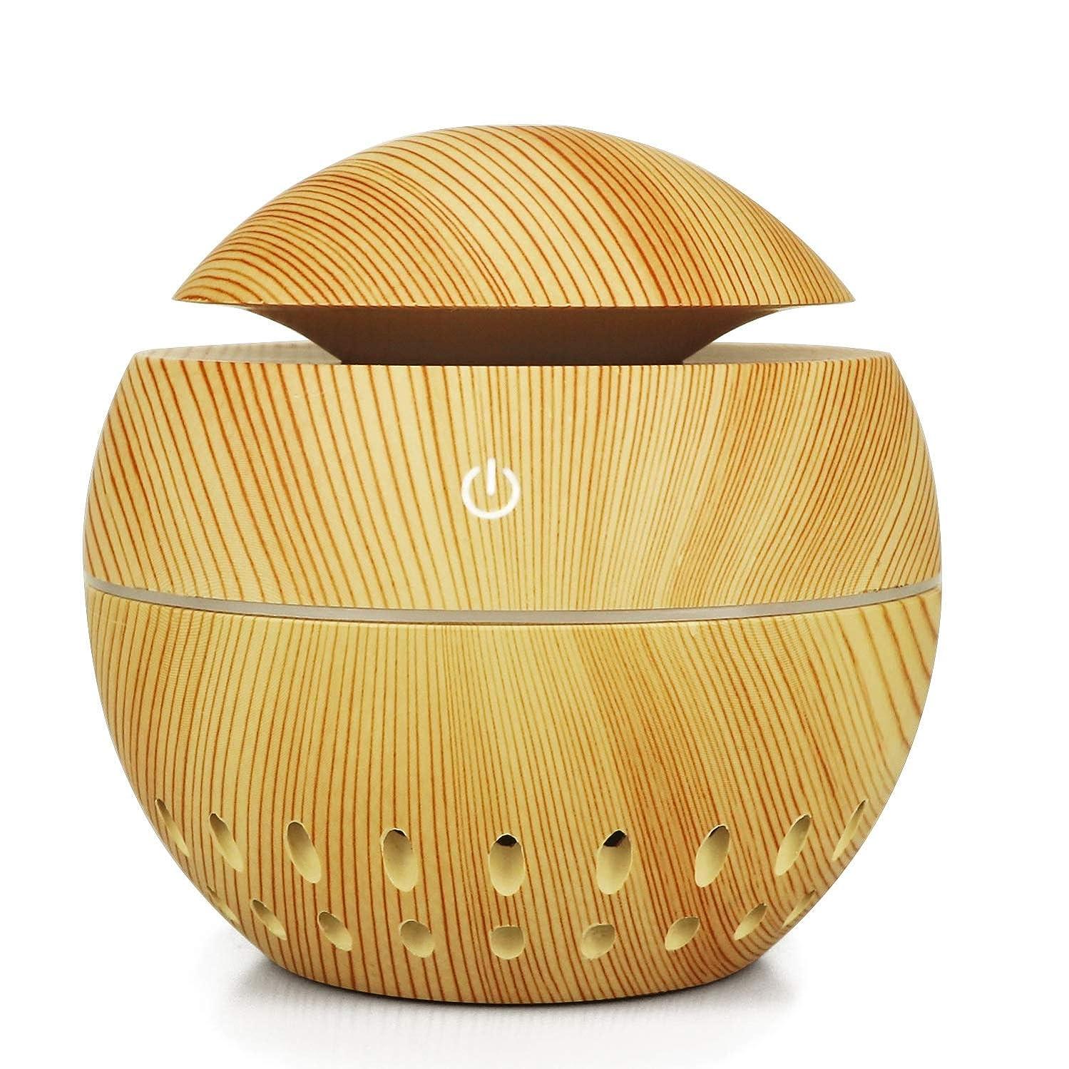 半導体泥棒いつも加湿器USBウッドグレイン中空加湿器きのこマシン総本店小型家電、ブラウン (Color : Brass)