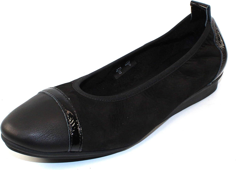 Arche Women's Ninour in black Nubuck Leather Patent Leather - Black - Size 37 M