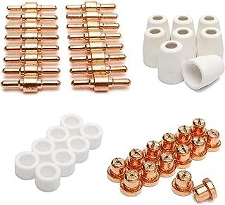 New 46pcs Consumables For Plasma Cutter 40D CUT40 50D CUT50 Electrodes Tips Nozzle
