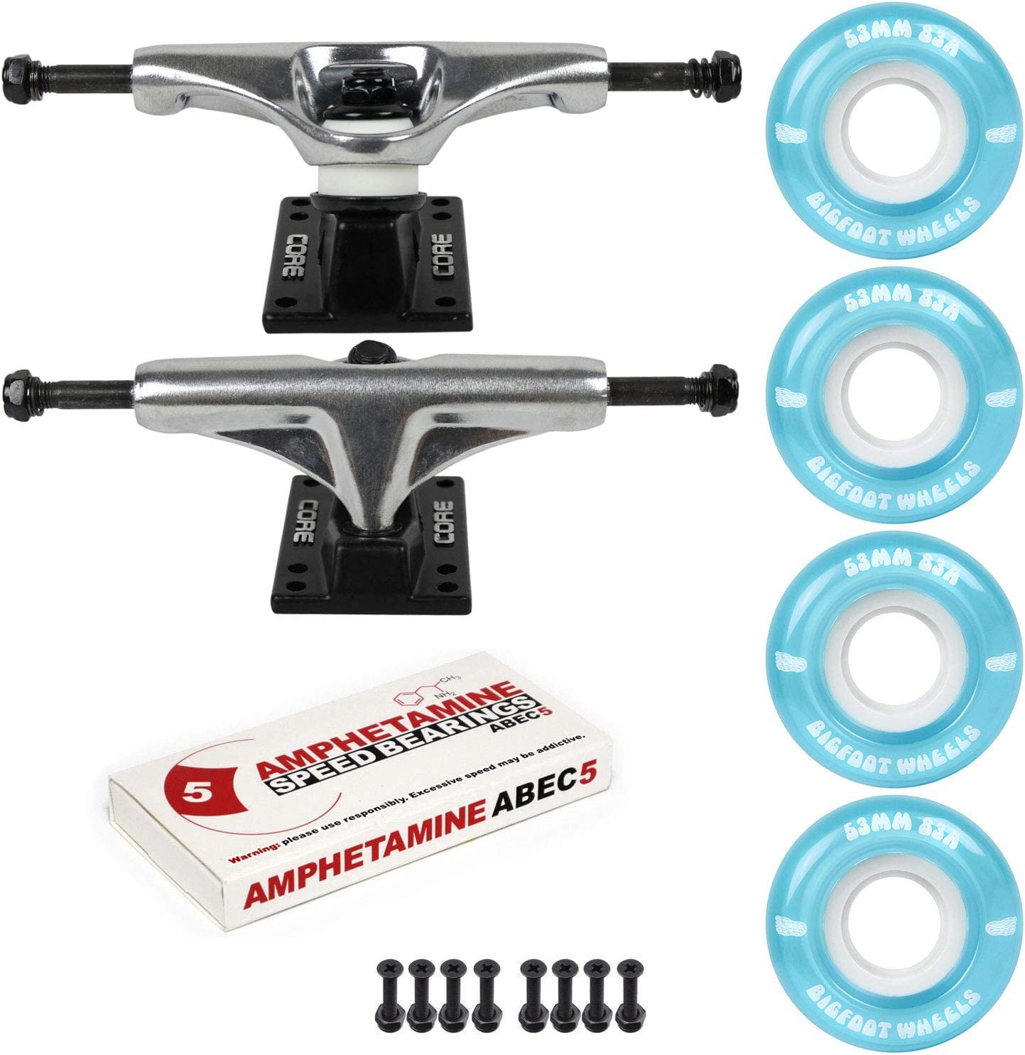 Skateboard Cruiser Trucks and Wheels New York Mall Outlet SALE - Soft A Package 83A