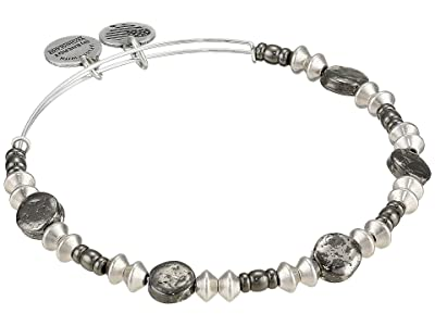 Alex and Ani Echo Two-Tone Charm Bangle (Rafaelian Silver) Bracelet
