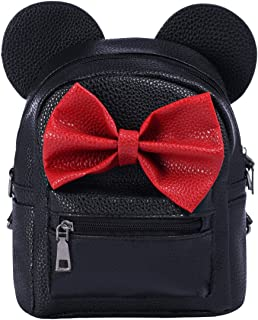 Minnie Backpack Bowknot Cute Travel Cartoon Mouse Ear School Shoulder Mini Bag for Kid Girls Teens Women