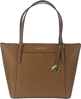 Michael Kors Ciara LG Tote Bag Leather Luggage (35T8GC6T9L)